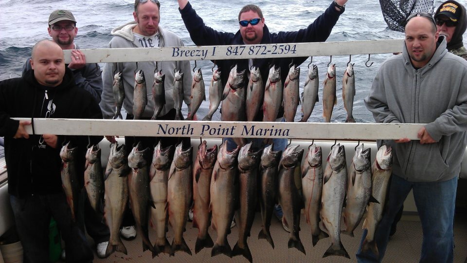 chicago salmon and trout charter boat