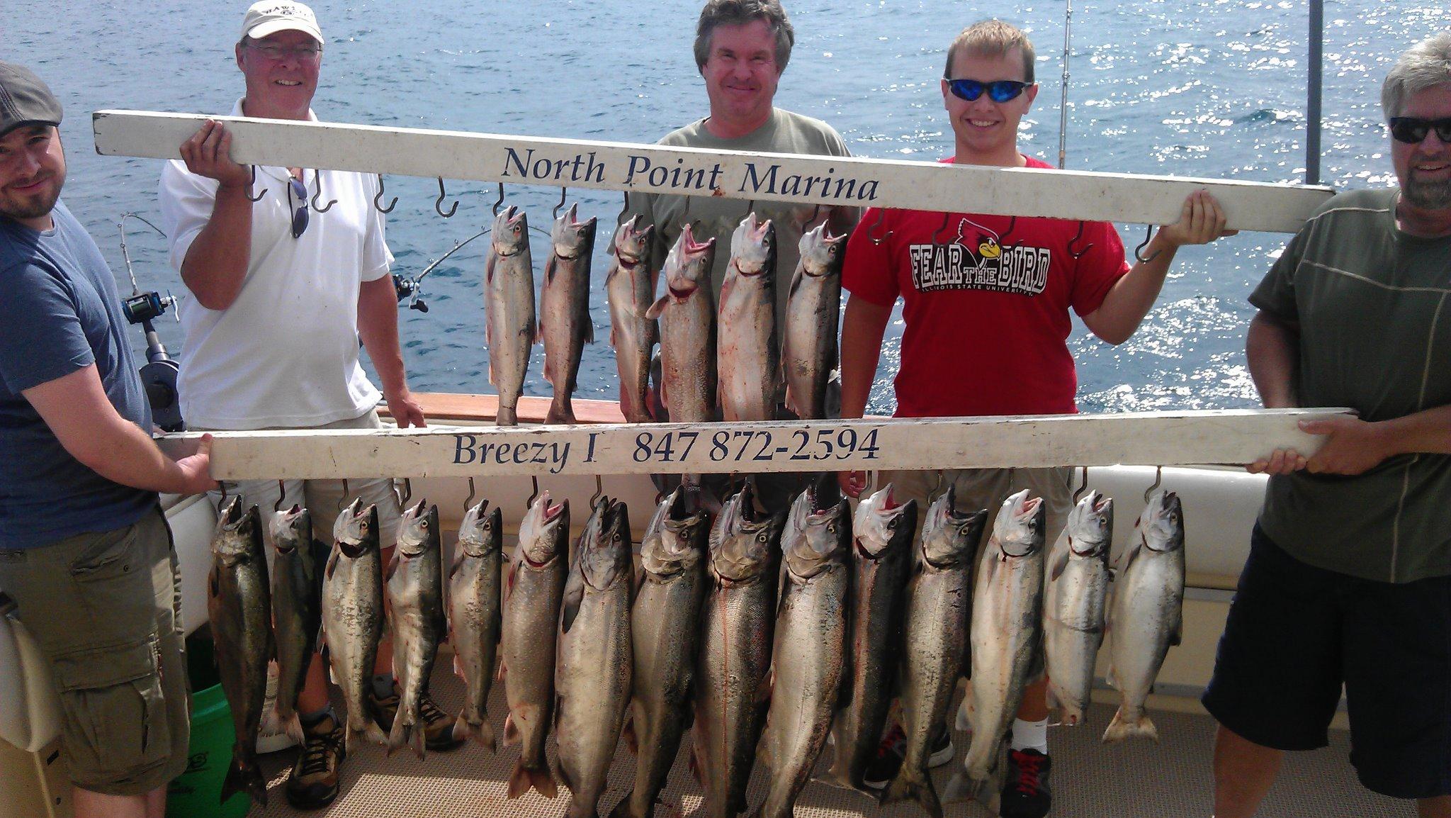 kenosha salmon charter boat