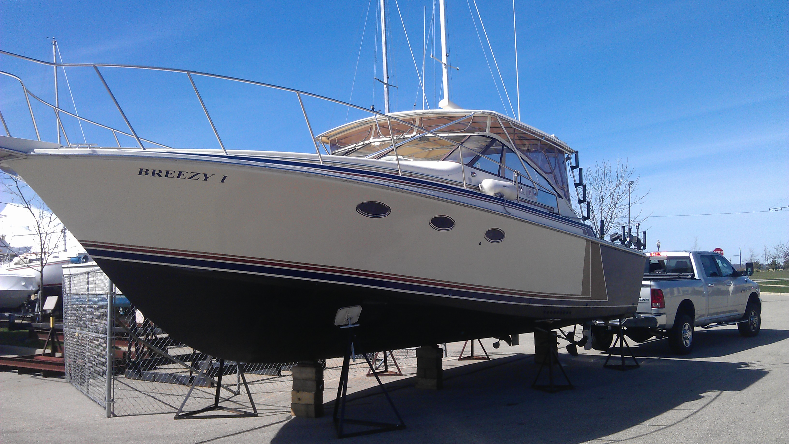 Illinois salmon charter boat