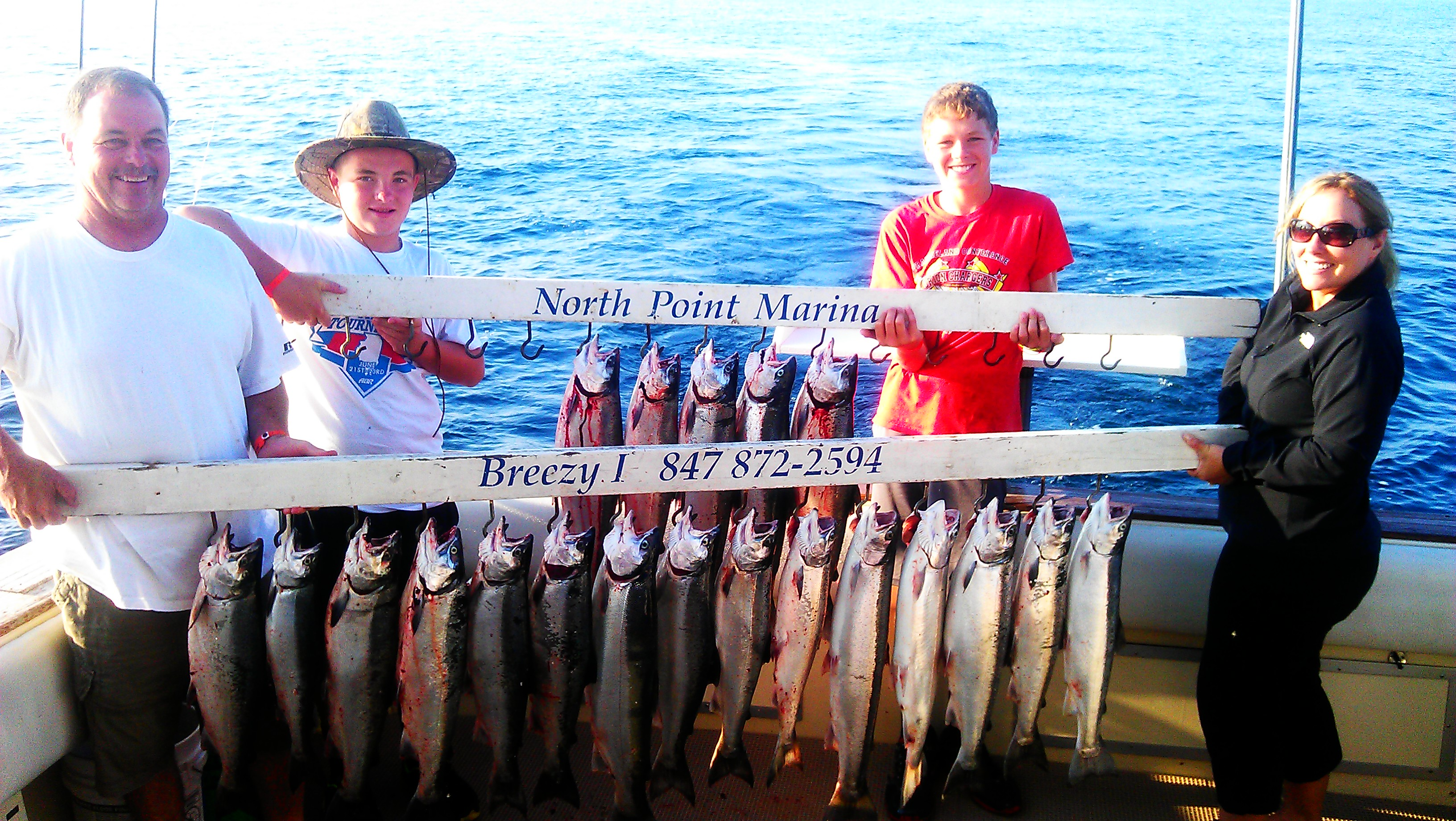 salmon trolling lake michigan