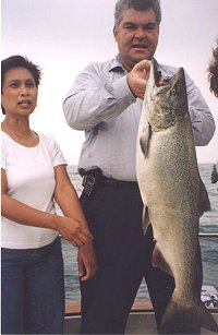 western shores of lake michigan salmon charter