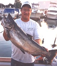 wintrhop harbor salmon and trout charter boat